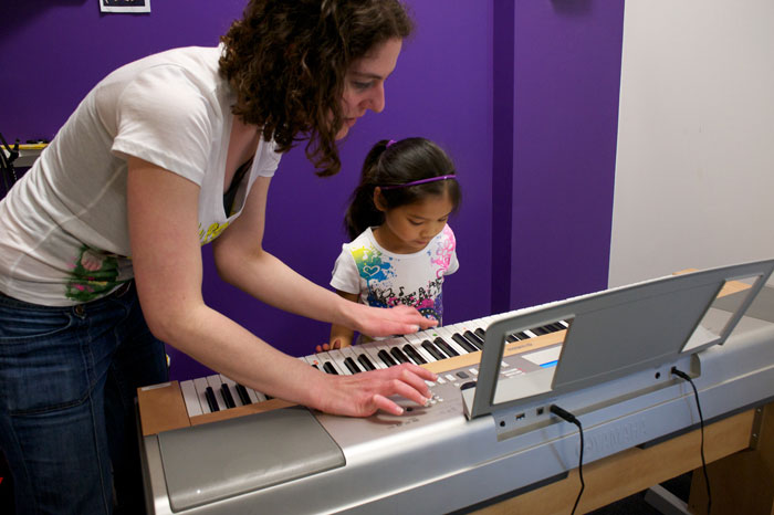 teaching music at our education franchise