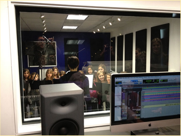 bach to rock students recording studio